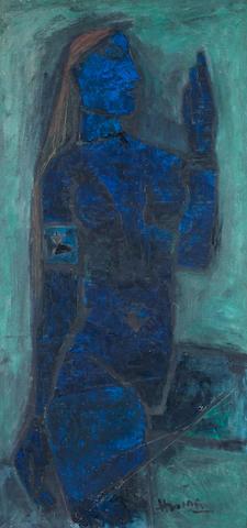 Maqbool Fida Husain (India, 1915-2011) The Blue Lady,
