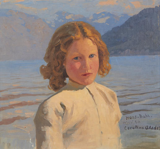 Hans Dahl (Norwegian, 1849-1937) Portrait of Caroline Olsdatter