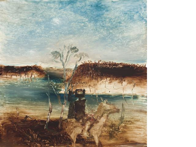 Sidney Nolan (1917-1992) Ned Kelly in a Landscape 1964