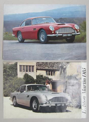 Two Aston Martin DB5 sales publications,