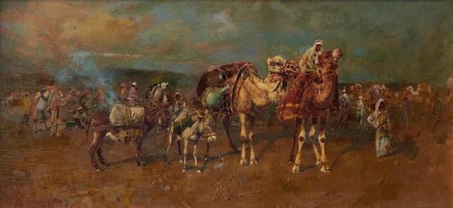 Tito Pellicciotti (Italian, 1872-1950) Mercato arabo