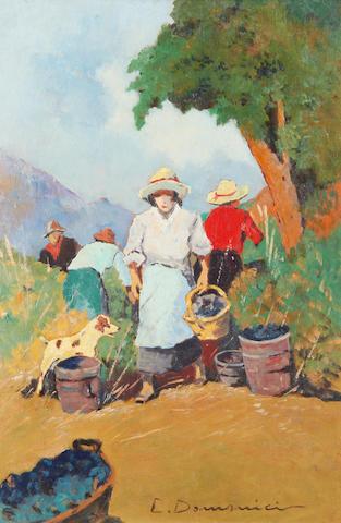 Carlo Domenici (Italian, 1898-1981) La raccolta