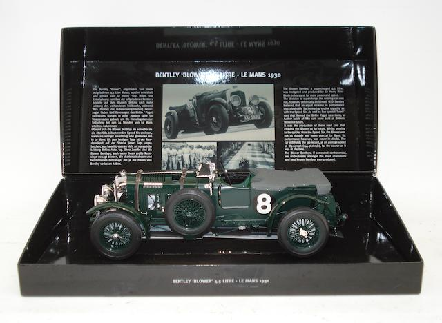 A 1:18 scale model of the 1930 Le Mans 4½ Litre Birkin 'Blower' Bentley,
