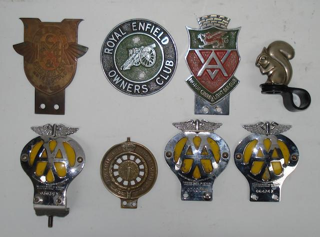 Assorted motorcycle related badges,