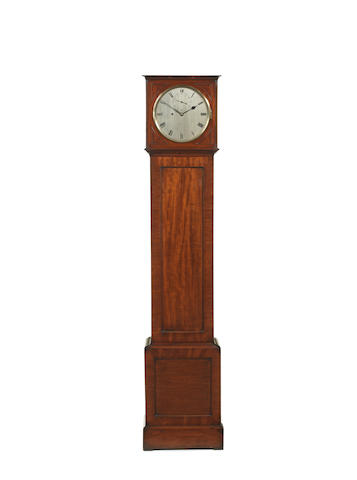 A fine early 19th century mahogany eight day floorstanding regulator of small size Barwise, St Martin's Lane, London.  The rear of the dial numbered 127 58