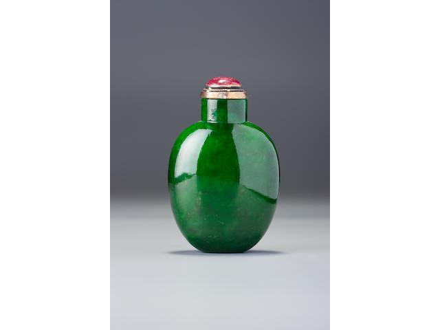 A jadeite snuff bottle 1780–1880