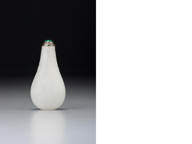 A white nephrite 'cicada' snuff bottle 1700–1840