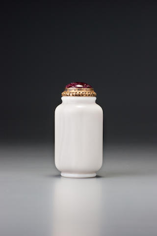 A marble 'aragonite' snuff bottle 1770–1870