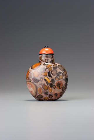 A puddingstone snuff bottle 1740–1900