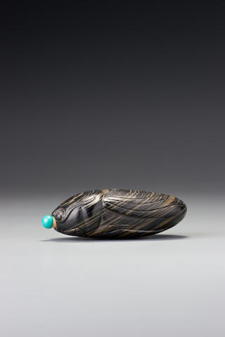 An inkstone 'cicada' snuff bottle 1780–1920