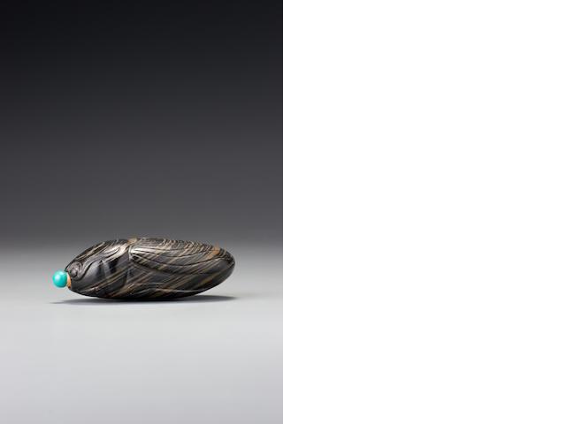 An inkstone 'cicada' snuff bottle 1780–1920
