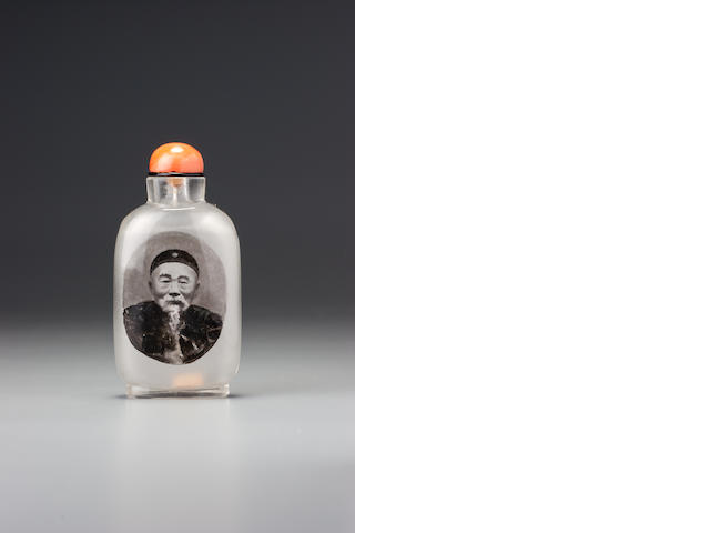 An inside-painted glass 'Li Hongzhang and Prince Qing' snuff bottle Ziyizi, Beijing, 1900–1905