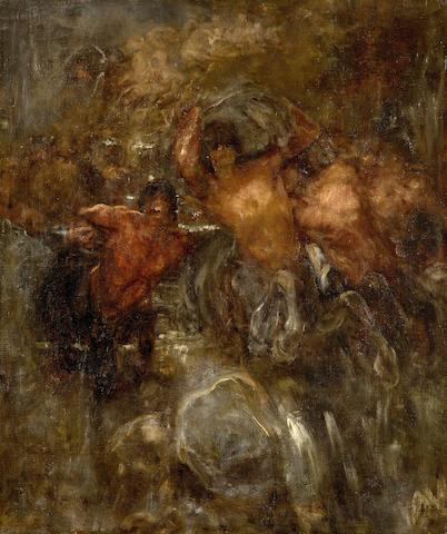 Nicholaos Gysis (Greek, 1842-1901) Centaurs 65 x 55 cm.