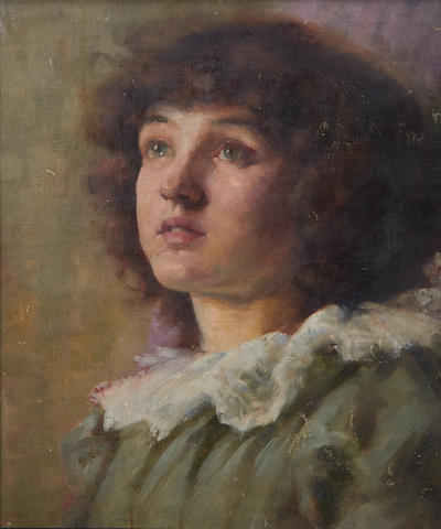 Follower of Sir James Jebusa Shannon, RA, RBA, RHA (British, 1862-1923) Portrait of a girl