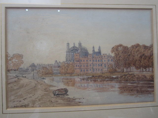 George Barret the Younger (British, born circa 1767-1842) View of Eton College