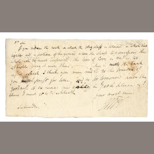 TURNER (JOSEPH MALLORD WILLIAM) Autograph letter signed with initials to the line-engraver [William Bernard] Cooke, [c.1813]