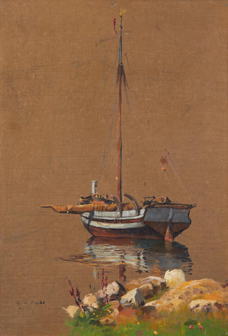 Hans Andreas Dahl (Norwegian, 1881-1919) Sketch of a boat