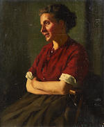 Hans Dahl (Norwegian, 1849-1937) Portrait of a seated woman