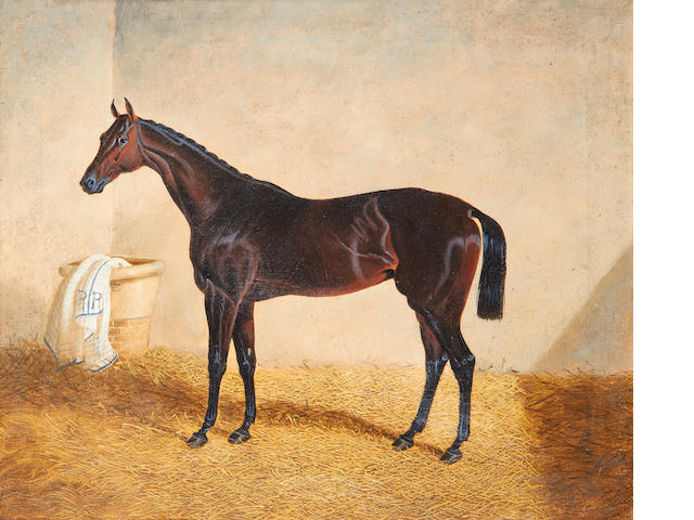 Follower of John Frederick Herring, Snr. (British, 1795-1865) A racehorse in a stable