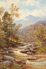 Alfred Augustus Glendening (British, 1840-1921) Mountain stream; Cattle watering, a pair  (2)
