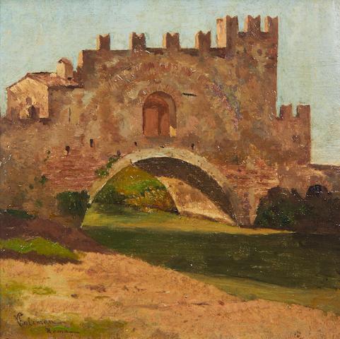 Francesco Coleman (Italian, 1851-1918) Ponte Nomentano, Roma