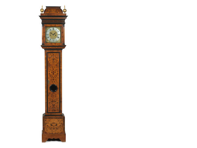A walnut longcase clock