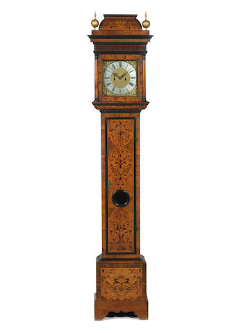 A walnut longcase clock