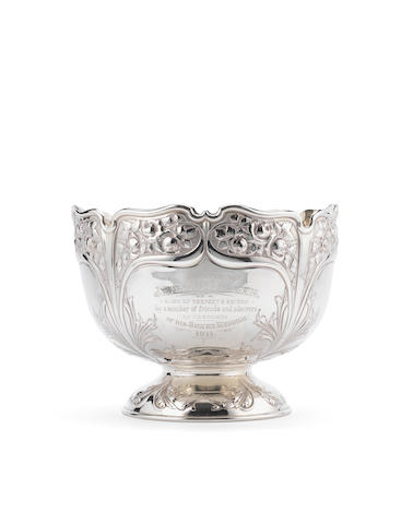 An Edwardian silver punch bowl, by Atkin Bros, Sheffield 1905,