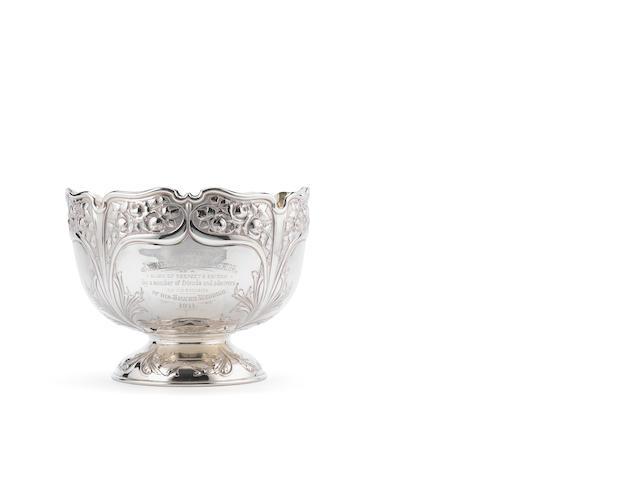 An Edwardian silver punch bowl, by Atkin Bros, Sheffield 1905,