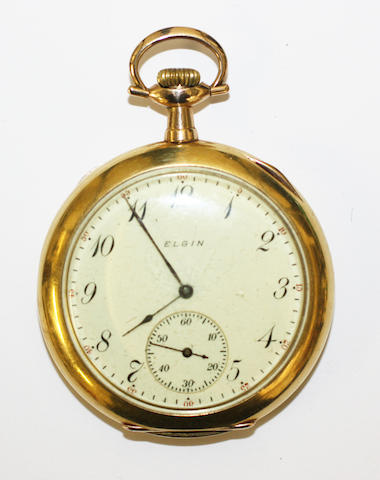 Elgin: An openfaced pocket watch