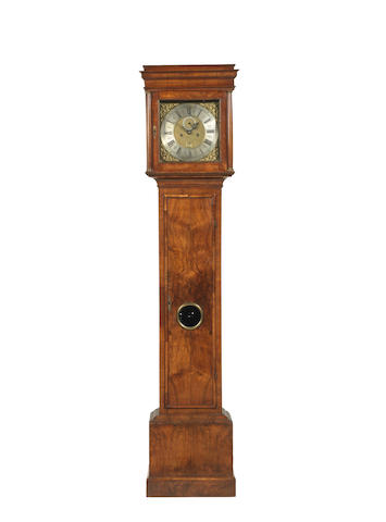 An 18th century and later walnut longcase clock Dial signed Thomas Lodge, London