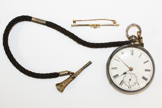 A Victorian silver open face pocket watch, by F R Lineham,