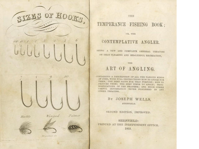 WELLS (JOSEPH) The Temperance Fishing Book; or, the Contemplative Angler