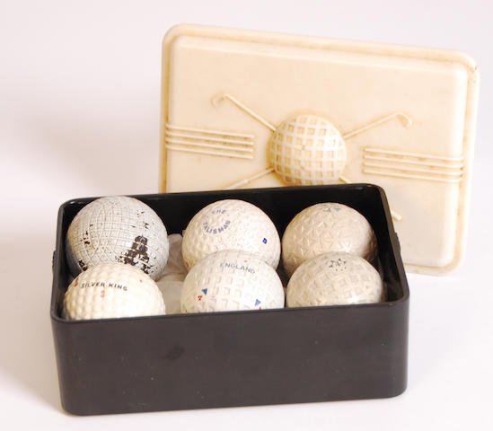 An Anderson, Anderson & Anderson mesh patterned golf ball circa 1920s