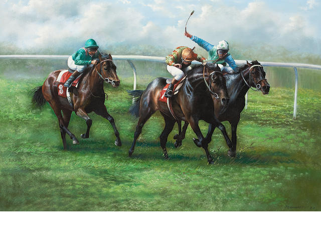 Max Brandrett (Dutch), 20th century The Final Furlong