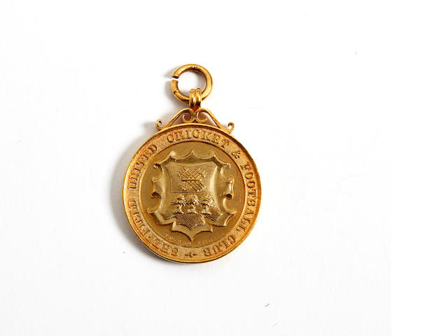 1897-1898 League Champions medal awarded to Sheffield United's M.I.Dodworth