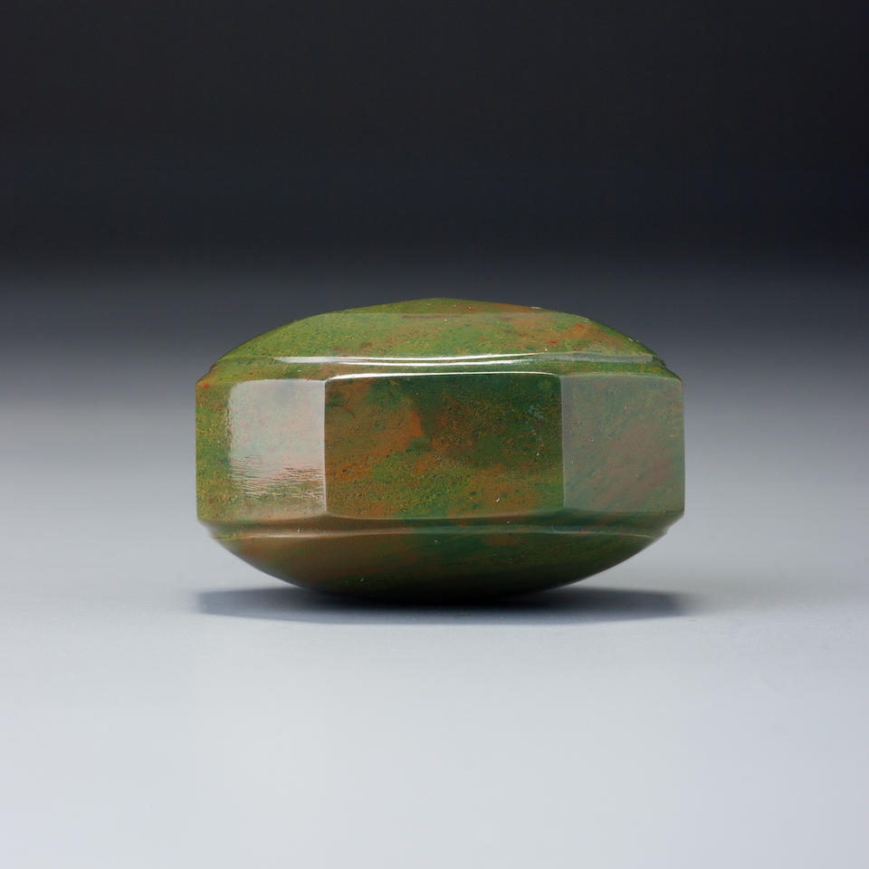 A faceted jasper snuff bottle Imperial, probably palace workshops, Beijing, 1730–1840