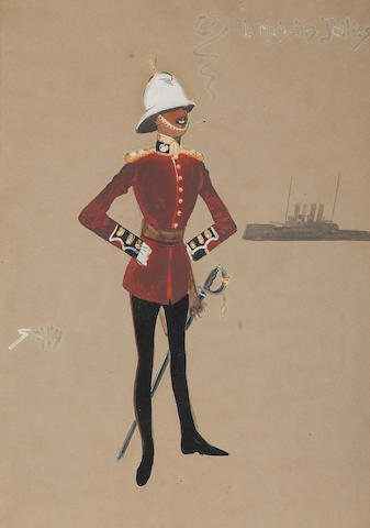 Charlie Johnson Payne, 'Snaffles' (British, 1884-1967) ''Is Majesties Jollies', a standing officer
