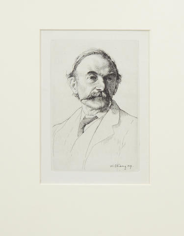 HARDY (THOMAS) Etched portrait by William Strang, [1894]
