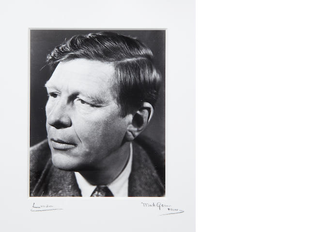 AUDEN (W.H.) Portrait of W.H. Auden by Mark Gerson, 1951