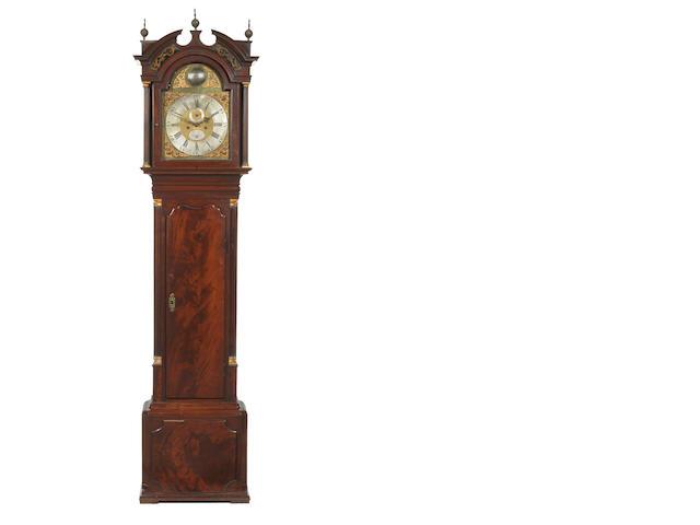 Yates mahogany longcase clock