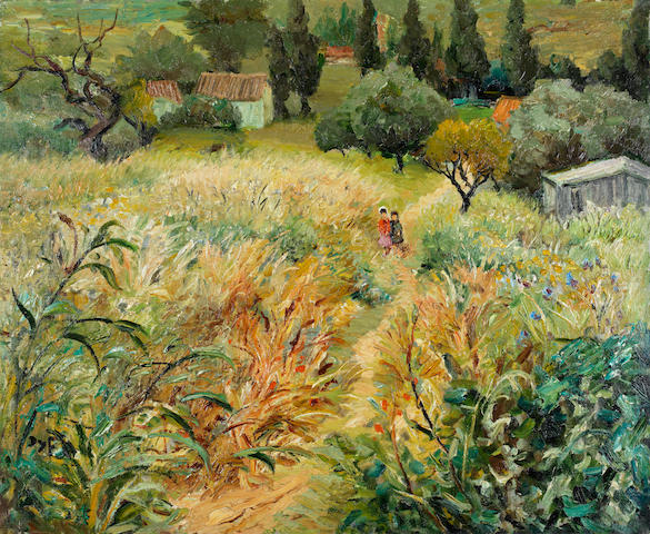 Marcel Dyf (French, 1899-1985) Les enfants dans la prairie