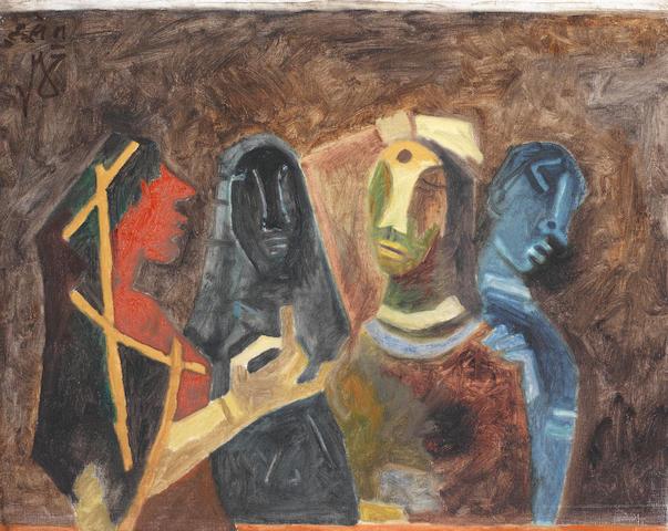 Maqbool Fida Husain (India, 1915-2011) Untitled