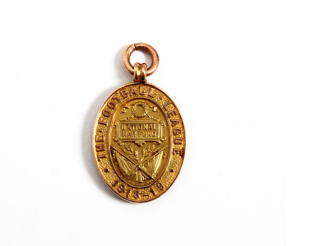 1918-19 Football League war fund medal