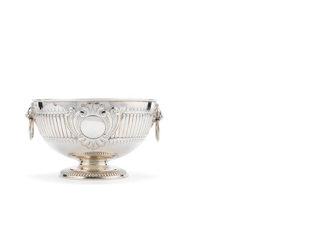 A Victorian  silver punch bowl By William Hutton & Sons Ltd, London 1887  (1)