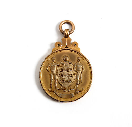 1956 F.A. Cup winners medal awarded to Manchester City's Dave Ewing