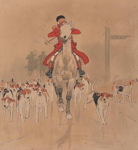 Cecil Charles Windsor Aldin, RBA (British, 1870-1935) The Master