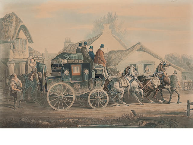 After Charles Cooper Henderson Four coloured coaching prints