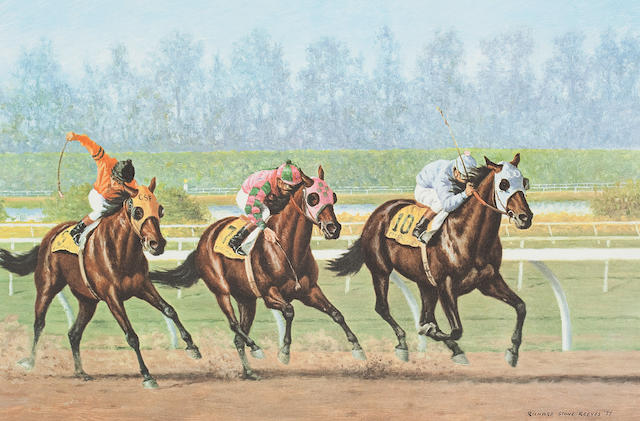 After Richard Stone Reeves Five Racing Prints: each 26 x 40cm (10 1/4 x 15 3/4in).