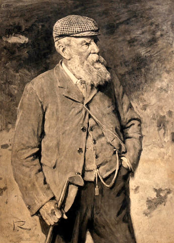 Sir George Reid: A black and white photogravure of Old Tom Morris
